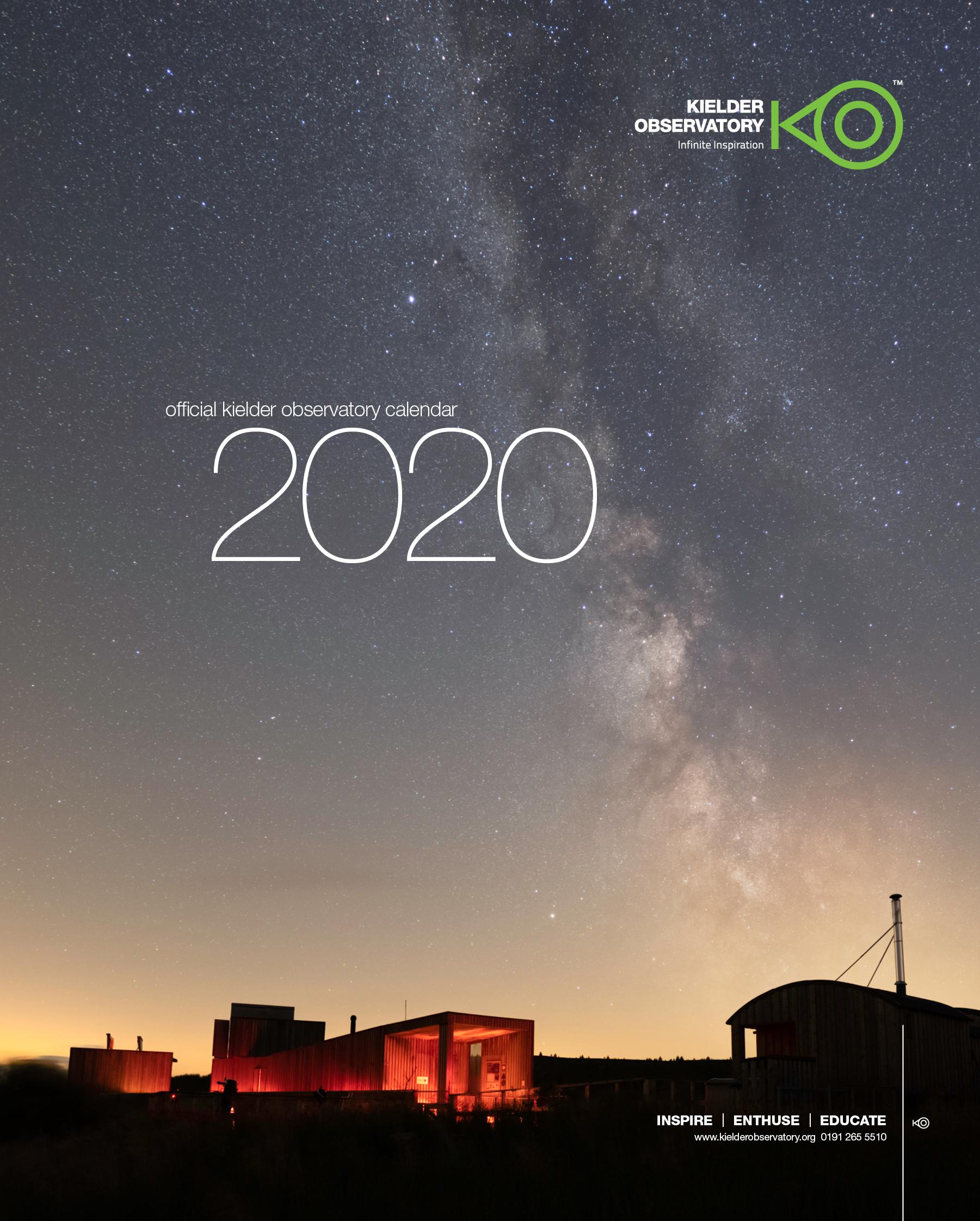 Astronomical Events December 2020.Kielder Observatory 2020 Calendar